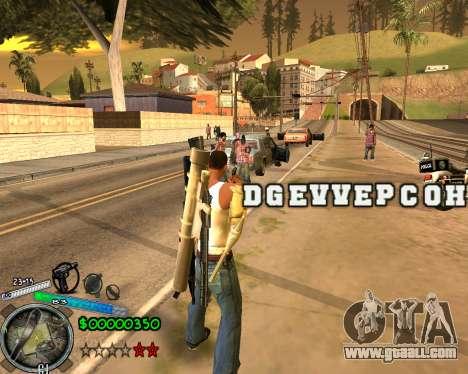 C-HUD Gor Life Ghetto for GTA San Andreas second screenshot