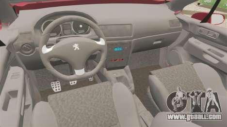 Peugeot 308 CC for GTA 4 inner view