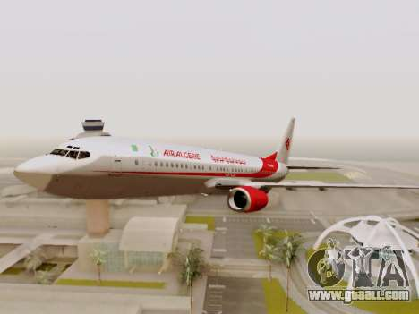 Boeing 737-800 Air Algerie for GTA San Andreas upper view