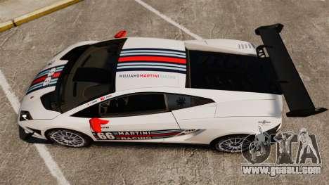 Lamborghini Gallardo LP570-4 Martini Raging for GTA 4 right view