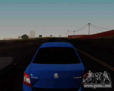 Skoda Octavia A7 for GTA San Andreas bottom view