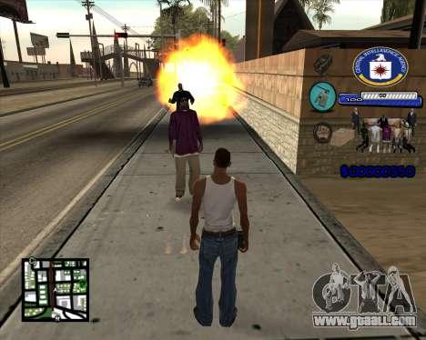 C-HUD C.I.A for GTA San Andreas third screenshot