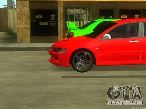 Mitsubishi Lancer Evo VIII for GTA San Andreas back left view