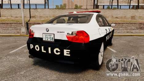 BMW 350i Japanese Police [ELS] for GTA 4 back left view