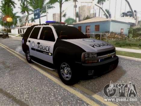 Chevrolet TrailBlazer Police for GTA San Andreas bottom view