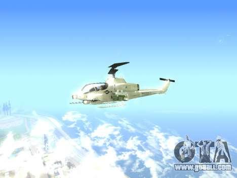 AH-1W Super Cobra for GTA San Andreas back left view