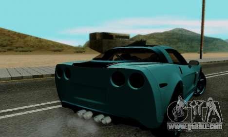 Chevrolet Corvette Grand Sport 2010 for GTA San Andreas right view