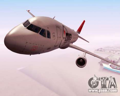 Airbus A320 NWA for GTA San Andreas inner view