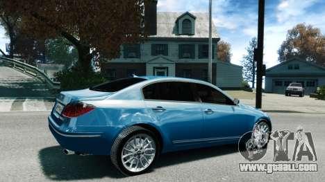 Hyundai Genesis V6 Sedan for GTA 4 left view