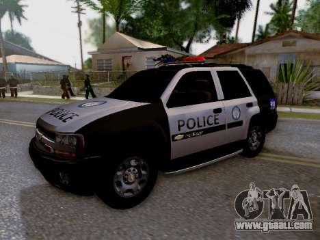 Chevrolet TrailBlazer Police for GTA San Andreas side view