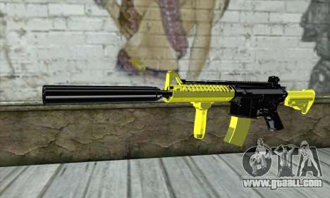 Yellow M4A1 for GTA San Andreas