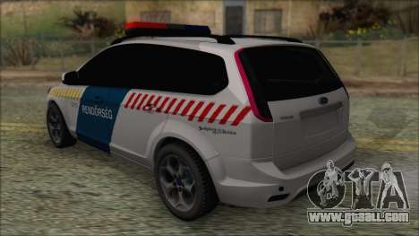 Ford Focus 2008 Station Wagon Hungary Police for GTA San Andreas back left view