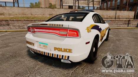 Dodge Charger 2013 Liberty University Police ELS for GTA 4 back left view