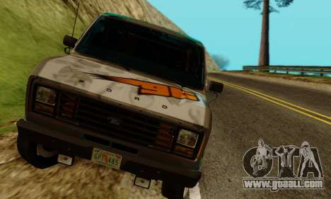 Ford E-150 GT-Shop for GTA San Andreas back view