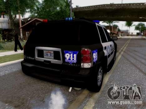 Chevrolet TrailBlazer Police for GTA San Andreas interior