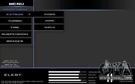 Tuning Mod 0.9 for GTA San Andreas second screenshot