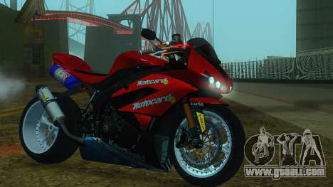 Kawasaki Ninja ZX-6R for GTA San Andreas back left view