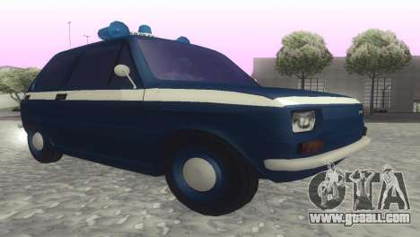 Fiat 126p milicja for GTA San Andreas back left view