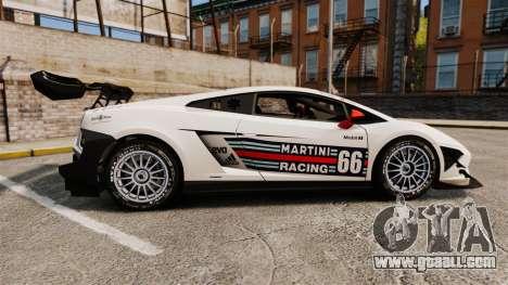 Lamborghini Gallardo LP570-4 Martini Raging for GTA 4 left view