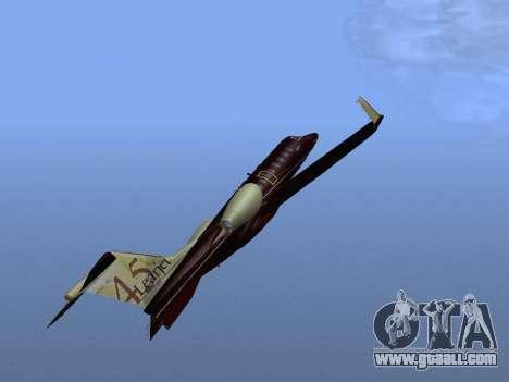Bombardier Learjet 45 for GTA San Andreas upper view