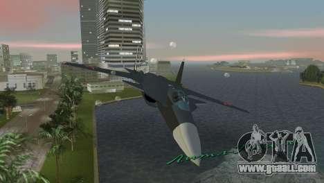 Su-47 Berkut for GTA Vice City inner view
