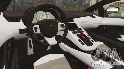 Lamborghini Aventador LP700-4 2012 [EPM] Jake for GTA 4 inner view