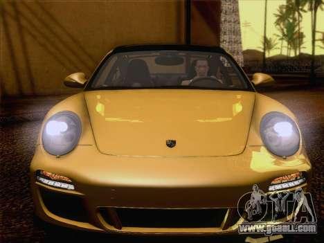 Porsche 911 Targa 4S for GTA San Andreas inner view