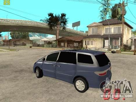 Toyota Estima KZ Edition 4wd for GTA San Andreas back left view