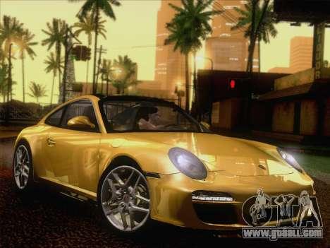 Porsche 911 Targa 4S for GTA San Andreas back left view