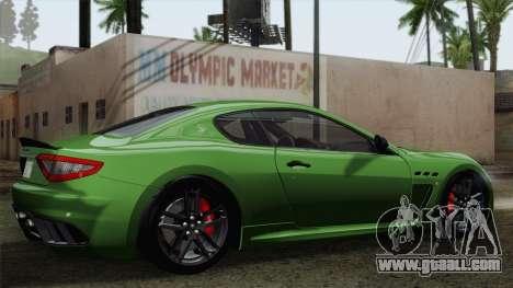 Maserati GranTurismo MC Stradale for GTA San Andreas side view