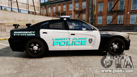 Dodge Charger 2011 Liberty Clinic Police [ELS] for GTA 4 left view