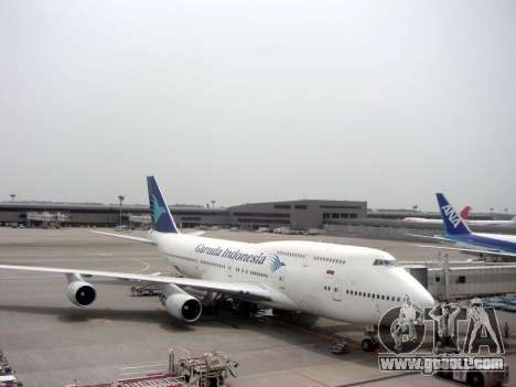 Boeing 747-400 Garuda Indonesia for GTA San Andreas side view
