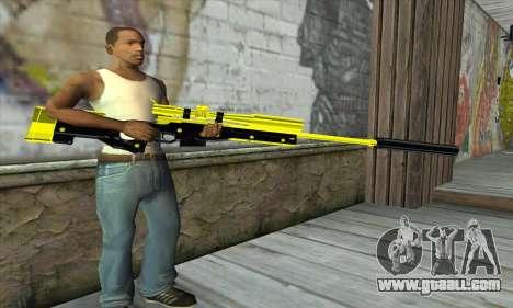 Yellow Sniper Rifle for GTA San Andreas third screenshot