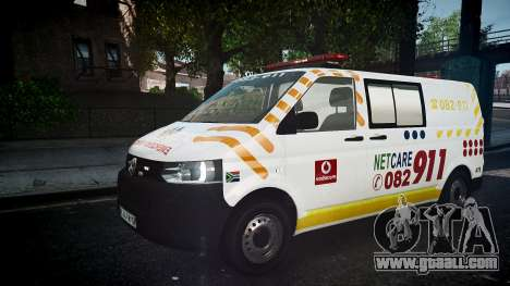 Volkswagen Transporter 2011 NetCare911 [ELS] for GTA 4