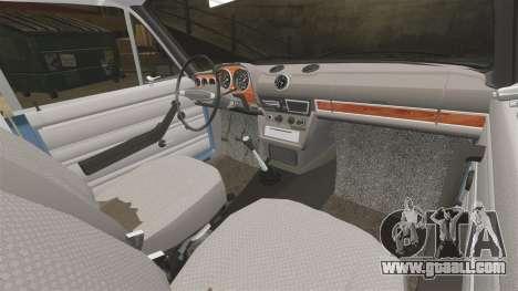 VAZ-2106 Zhiguli BUNKER for GTA 4 inner view