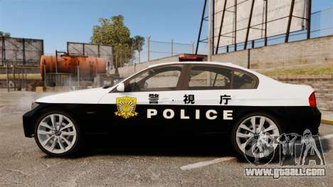 BMW 350i Japanese Police [ELS] for GTA 4 left view