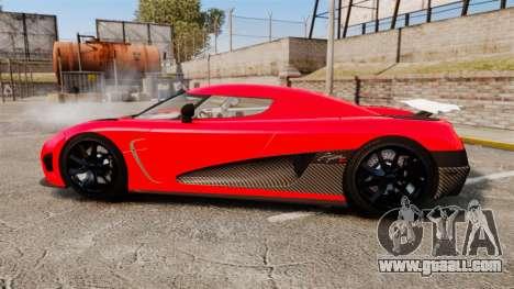 Koenigsegg Agera R [EPM] NFS for GTA 4 left view