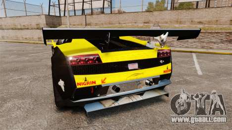 Lamborghini Gallardo LP560-4 GT3 2010 Gads for GTA 4 back left view