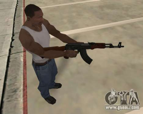 AK-47 for GTA San Andreas sixth screenshot