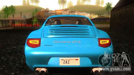 Porsche 911 Carrera GTS 2011 for GTA San Andreas upper view