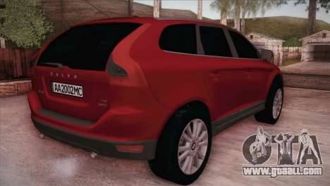 Volvo XC60 2009 for GTA San Andreas back left view