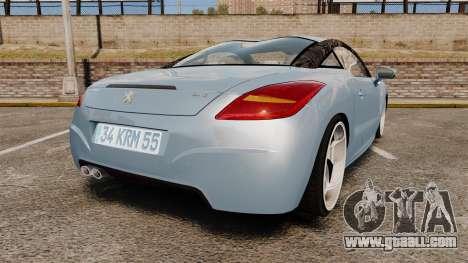 Peugeot RCZ for GTA 4 back left view