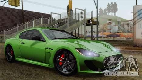 Maserati GranTurismo MC Stradale for GTA San Andreas inner view