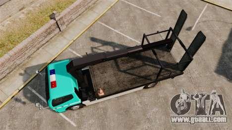 Mitsubishi Fuso Canter Japanese Auto Rescue for GTA 4 right view