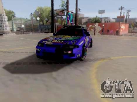 Nissan GT-R R33 HellaFlush V2 for GTA San Andreas