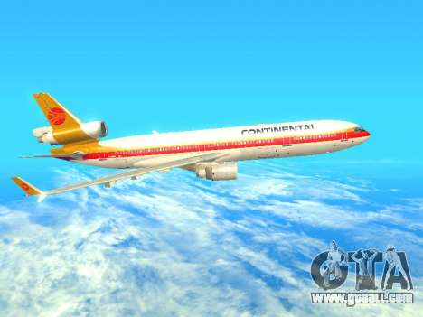 McDonnell Douglas MD-11 Continental Airlines for GTA San Andreas left view