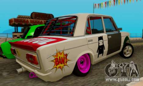 VAZ 2106 Cramps for GTA San Andreas back left view