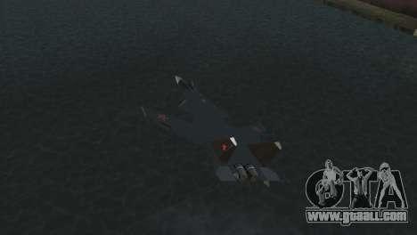Su-47 Berkut for GTA Vice City back view