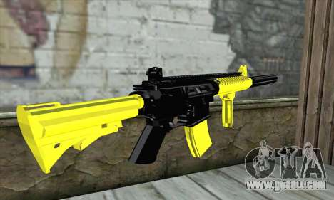 Yellow M4A1 for GTA San Andreas second screenshot