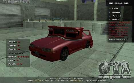 Tuning Mod 0.9 for GTA San Andreas third screenshot